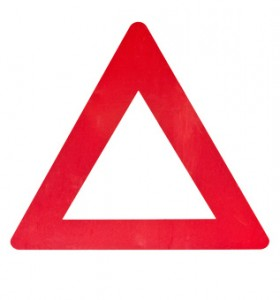 Den røde advarselstrekant